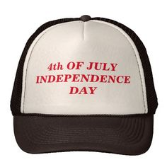 4th Of July Independence Day Trucker Hat.  Choose your color hat for male or female.  Designed by buyall via Zazzle.