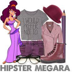 """Hipster Megara - Disney inspired"" by sambapanda on Polyvore"