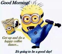 Minion Happy Coffee Dance!