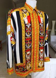 f1cb5332ed7017 vintage GIANNI VERSACE silk shirt VERSACE TAPESTRY print size 46 style worn  Tyga