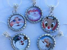 Christmas Dinner Table Decorations, Glass Charms