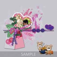 """CT layout made using Memory Mosaic's """"We Go Together"""". Scrapbooking Layouts, Digital Scrapbooking, We Go Together, Paint Shop, Photoshop Elements, Photo Book, Design Elements, Valentines, Valentine's Day"""