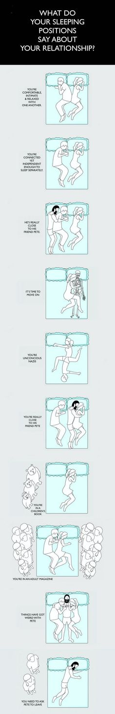 Que dice tu posición en la que duermes sobre tu relación.
