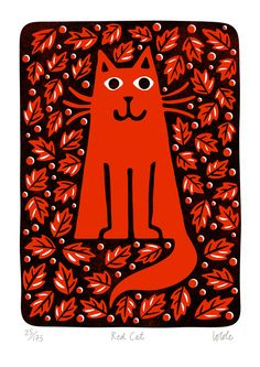 Red Cat by Lo Cole - Limited Edition Print