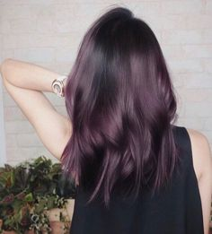 Brown Blonde Hair, Brown Hair With Highlights, Light Brown Hair, Dark Hair, Dark Violet Hair, White Hair, Violet Brown Hair, Eggplant Colored Hair, Eggplant Hair