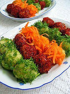 RENKLI PATATES TOPLARI - NRN Vegetable Recipes, Vegetarian Recipes, Healthy Recipes, My Favorite Food, Favorite Recipes, Turkish Salad, Good Food, Yummy Food, Appetizer Salads