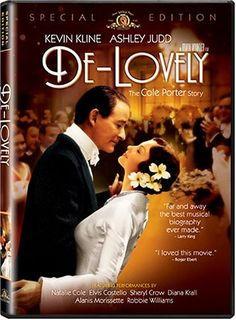 "De-Lovely: The Cole Porter Story - ""The most unusual and enchanting musical in years"" (Roger Ebert), this cinematic ode to legendary composer Cole Porter is at once buoyantly fun and ""heartbreakingly beautiful"" (Liz Smith).  http://www.amazon.com/gp/offer-listing/B00067BBLY/ref=dp_olp_used?ie=UTF8&condition=used&m=A3030B7KEKNTF7"