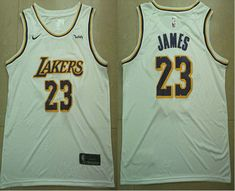 3f624e0b2 Men s Los Angeles Lakers  23 LeBron James White 2018-19 Nike Wish Swingman  Association