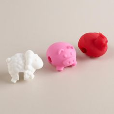 One of my favorite discoveries at WorldMarket.com: Farm Animal Pot Lid Lifts, 3-Pack