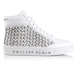 Philipp Plein Kauai High-Top Sneakers ($1,945) ❤ liked on Polyvore featuring men's fashion, men's shoes, men's sneakers, mens high top shoes, mens hi top shoes, g star mens shoes, mens studded sneakers and mens high tops