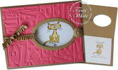 Stampin Up framed window card and video using Giggle Greetings stamp set