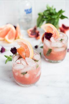 Pink Grapefruit Sangria Cocktail