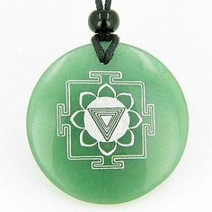 Kali Yantra Amulet Green Aventurine Magic Gemstone Circle Good Luck Powers Pendant Necklace Best Amulets. $29.99. Comes with Detailed Information Card and cute Velour Pouch. Each Magic Symbol is Engraved on top of the Gemstone Circle. Made from Genuine and Natural Gemstone and may have some natural specks making your Amulet or Talisman very unique and special. Comes with Adjustable cord, and adjusts from 15 inches up to 24 inches. Gemstone Circle Size: 2 inches (50mm)
