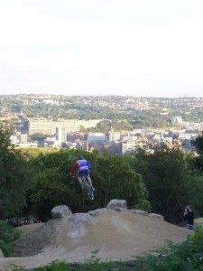 Mountain Biking at Parkwood Springs, Sheffield, UK