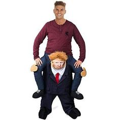 "77ba1111f Piggy Back ""Carry Me Mr. President"" will surly get a rouse out of the  crowd. Wear this politically charged Donald Trump costume with a Hillary  Mask and ..."