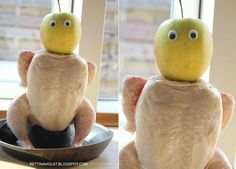 Fun with plastic eyes and a chicken...