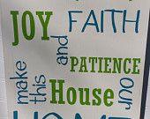 Hope Love Faith-Hand Painted Wood Sign