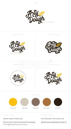 Logo research Different designs for the logo with colour choice and typeface Logo Branding, Typography Logo, Branding Design, Bakery Branding, Food Logo Design, Logo Food, Logo Design Services, Logo Restaurant, Resturant Logo