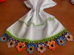Amor-Perfeito em Crochê Pano de Prato -  /    Perfect Love up  Crocheting Dishrag -