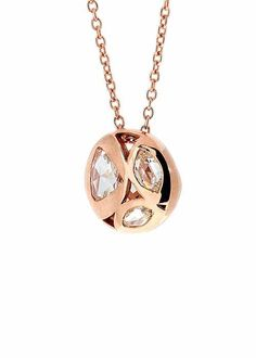 Jewelry designed by Selim Mouzannar: Diamonds pendant with pink gold.