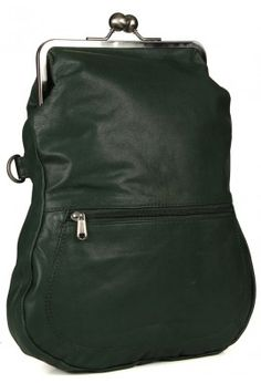 LEATHER WITH CLASP CLOSURE (GREEN)