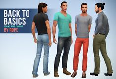 A Sims on the phone., Jeans and chinos for The Sims 4 Hey! MORE PANTS! ...