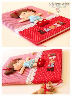Cuaderno decorado   -   Decorated notebook   -   Caderno decorado by Ei menina! - Erica Catarina, via Flickr