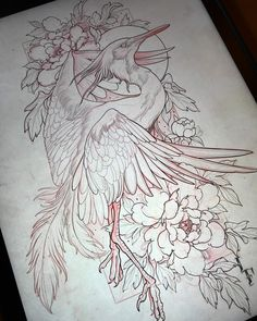 "6,768 curtidas, 47 comentários - Lucas Ferreira ✶ (@lucasferreiratattoo) no Instagram: ""Starting new paintings ✍ #painting #sketch #artwork #heron #artistspotlight #sullenclothing"""