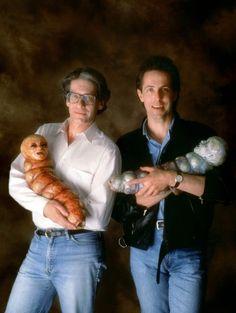 "dimetrodone: "" trash-fuckyou: "" DAVID CRONENBERG & CLIVE BARKER "" But who are the men holding them? """
