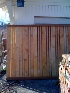 The Making of a Craftsman Home: Custom fence panels