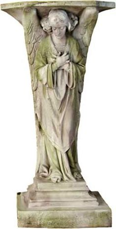 Holy Water Font Angel Outdoor Garden Religious Figurine Statue