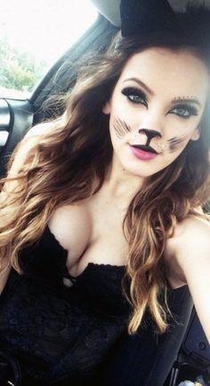 Maquillaje sencillo de gatica...