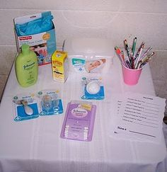 "Baby Shower game - ""The price is right"", name the correct price of the baby items, and winner wins a prize. the baby items go to the mother to be"