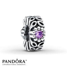 Pandora Charm Purple CZ Sterling Silver--Kylee