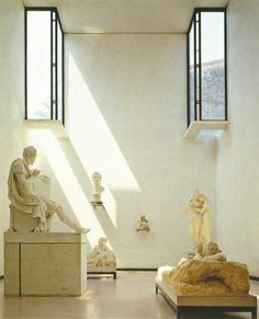"""Canoviano Museum by Carlo Scarpa. Scarpa said, describing his endeavor, """"Light was the problem I faced in improving the gallery: I had to deal with sculptures, not. Carlo Scarpa, Le Corbusier, Interior Architecture, Interior And Exterior, Interior Design, Minimal Architecture, Architecture Images, Modern Interior, Critical Regionalism"""