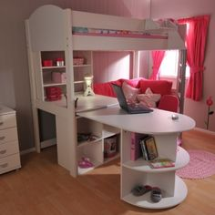 Superior Girls Bedroom Idea  Desk Seating Area Bes Stompa Casa 4 High Sleeper Bunk  Bed With Pull Out Click Now For Free Delivery And Sale Prices On All Stompa  ...