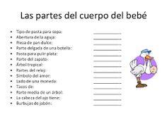 Juegos Baby Shower Para Imprimir Partes Del Cuerpo Del Bebe