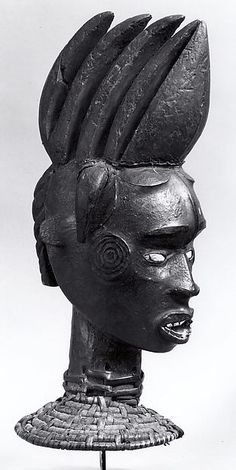 Headdress 19th–20th century Geography: Nigeria, Lower Cross River region Culture: Ejagham peoples Medium: Wood, leather, pigment, kaolin, cane, vegetable fiber