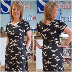 This sleek #lanewaydress stitched up by  @sewcialstudio is all kinds of amazing, the fabric alone  Amanda was another of my beautiful testers for Laneway & I was so flattered to learn that she wore this dress for her TV debut, the first of my patterns that I know of to go on TV
