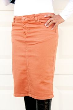 NYDJ Denim skirt lomita wash ($195) ❤ liked on Polyvore featuring ...