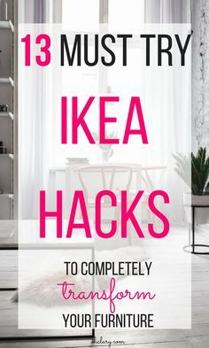 I have complied a list of 13 of the very best DIY IKEA Hacks that anyone can do! These Ikea hacks will be sure to jazz up your furniture and leave your house looking beautiful. The best ikea ideas, ikea kitchen, diy ikea hack, kids ikea hack, bedroom ikea hack, ikea hack storage, ikea hack tv unit, ikea bookcase, ikea dresser, ikea hack living room #ikeahack #ikeaideas #ikea
