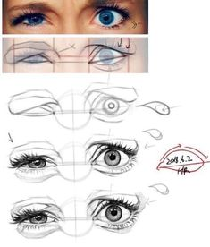 Eye Drawing Tutorials, Drawing Techniques, Art Tutorials, 3d Drawing Tutorial, Drawing Step, 3d Drawings, Drawing Sketches, Pencil Drawings, Anatomy Sketches