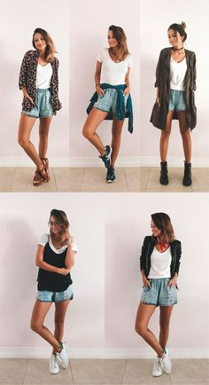 New clothes closet diy outfit ideas Short Outfits, New Outfits, Spring Outfits, Trendy Outfits, Cool Outfits, Look Fashion, Diy Fashion, Ideias Fashion, Fashion Outfits