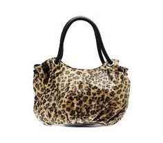 Lee Sands Animal Print Hobo Bag with Braided Handles - QVC.com