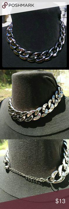 Gunmetal tone fun fashion adjustable necklace Gunmetal color adjustable fashion necklace Sherri Souza Boutique & Jewelry Jewelry Necklaces
