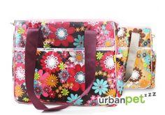 PORTABLE FLOWER PRINTED CAT BAG - LOVABLEDOG กระเป๋า LOVABLEDOG ลายดอกไม้ ราคา 1,370 บาท