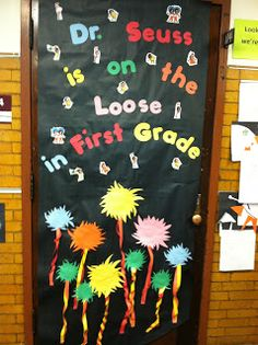 Dr Seuss Door Display and Bulletin Board Idea