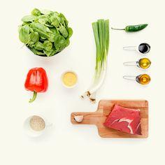 Stir-fry de vită cu semințe de susan