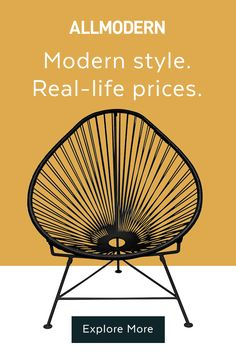 Shop AllModern for up to 65% off modern styles and free shipping. AllModern helps turn your outdoor oasis dreams into a reality by offering a wide assortment of small patio furniture, firepits, outdoor dining sets, and more. There are plenty of furniture and decor options for the front porch, too, to up your home's curb appeal. Try out some modern lanterns to make any space, from decks to balconies, feel like paradise.
