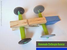 Homemade Closthespin Racecar